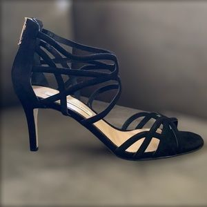 DVF suede leather strappy heels 39